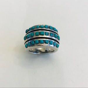 Jewelry - Sterling Silver + Turquoise Ring, size 7